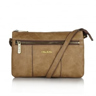 Ollie & Nic Casey Small Across Body Handbag Cafe