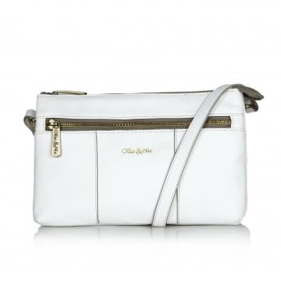 Ollie & Nic Casey Small Across Body Handbag White