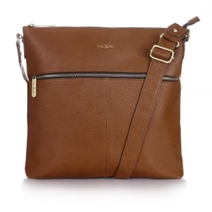 Ollie & Nic Duke Large Across Body Handbag Tan