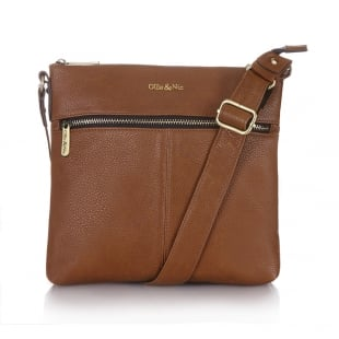 Ollie & Nic Duke Small Across Body Handbag Tan
