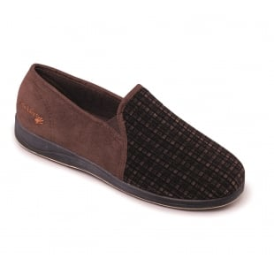Padders Albert 408S*02 - G Fit Brown Combination Slippers