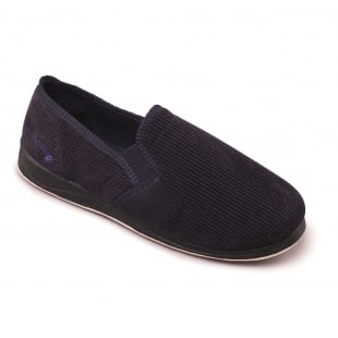 Padders Albert 408S*02 - G Fit Navy Cord Slippers