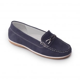 Padders Brighton Navy Nubuck Shoes