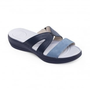 Padders Charlie Blue Combination Sandals