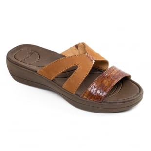 Padders Charlie Tan Combination Sandals