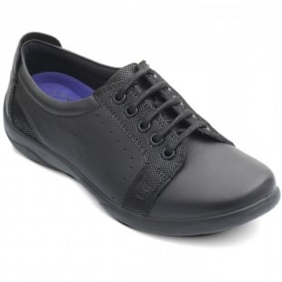 Padders Sonnet 850 Black Leather Shoes