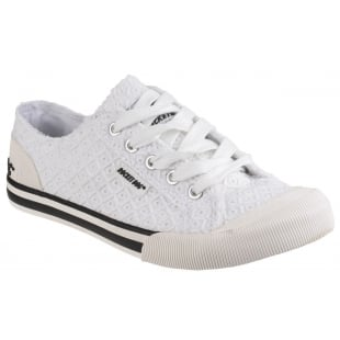 Rocket Dog Jazzin Lace Up White Sneakers