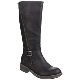 Rocket Dog Tanker Zip Up Black Boots