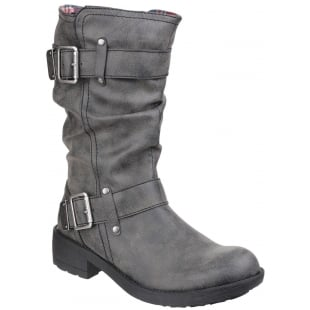 Rocket Dog Trumble Zip Up Black Boots