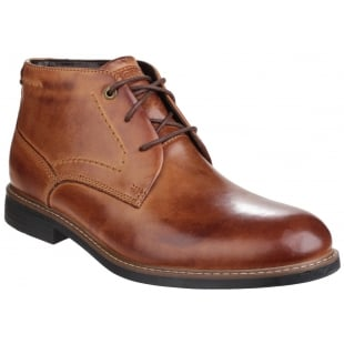Rockport Classic Break Lace Up Chukka Brown Boots