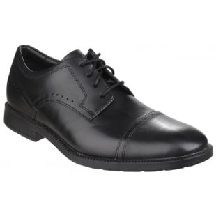 Rockport DresSports Modern Cap Toe Lace Up Black Shoes