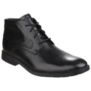 Rockport DresSports Modern Chukka Lace Up Black Boots