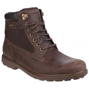 Rockport Rugged Bucks Waterproof Lace Up High Dark Brown Boots