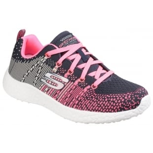 Skechers Burst: Ellipse Charcoal/Pink Girls SK81908L
