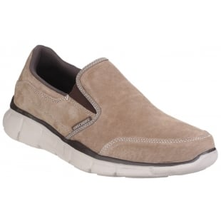 Skechers Equaliser Mind Game Memory Foam Slip On Brown Shoes