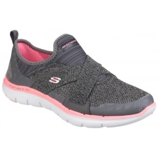 Skechers Flex Appeal 2.0 - New Image Slip On Charcoal/Coral