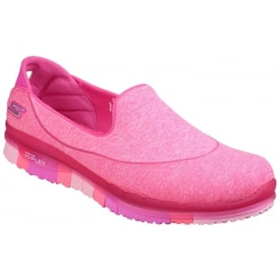 Skechers Go Flex Slip On Hot Pink