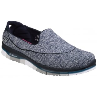 Skechers Go Flex Slip On Sports Shoe Navy/Grey Shoes