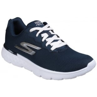 Skechers Go Run 400 - Action Lace Up Navy/White