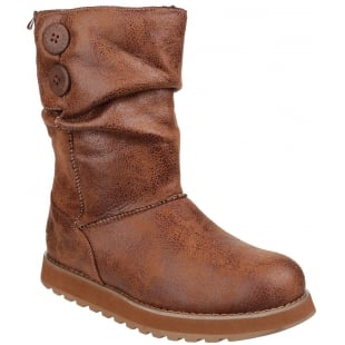 Skechers Keepsakes Esque Chestnut Boots SK48367