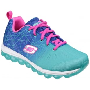 Skechers Skech Air Laser Lite Lace Up Girls Blue/Aqua SK80344