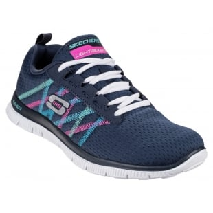 Skechers Sports Flex Appeal Something Fun Navy/Multi Shoes