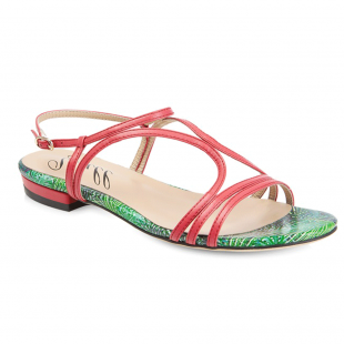 Yull Tenby Coral Sandals