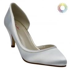 Rainbow Club Abbie Ivory Satin Court Shoes