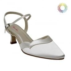 Rainbow Club Annie Ivory Satin Kitten Heel Shoes