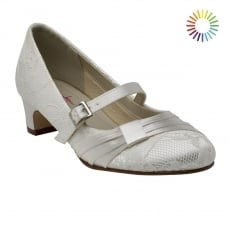 Rainbow Club Delilah Ivory Classic Lace Kids Shoes
