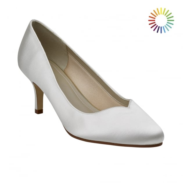 Rainbow Club Elizabeth Ivory Sweetheart Throat Court Shoes