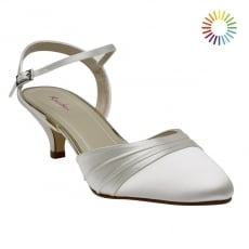 Rainbow Club Julie Ivory Satin Two Piece Court Shoes