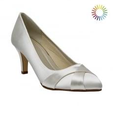 Rainbow Club Lexi Ivory Satin Court Shoes