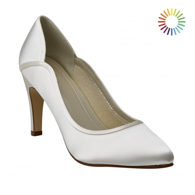 Lucy Ivory Satin Court Shoes