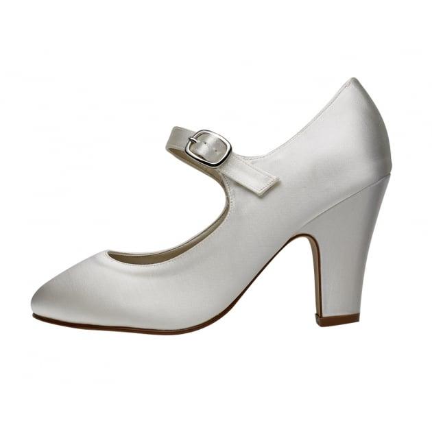 Rainbow Club Madeline Ivory Satin Mary Jane Shoes