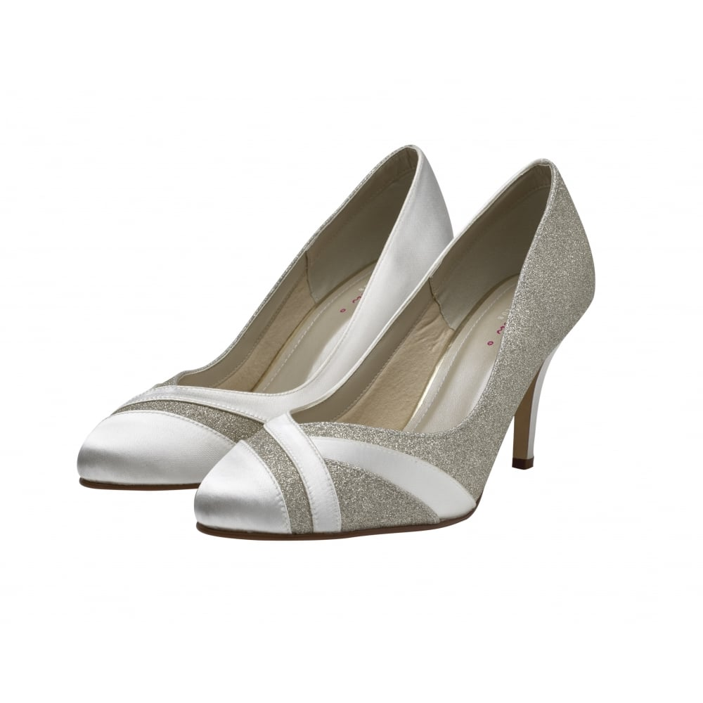 Silver Shimmer Court Shoes