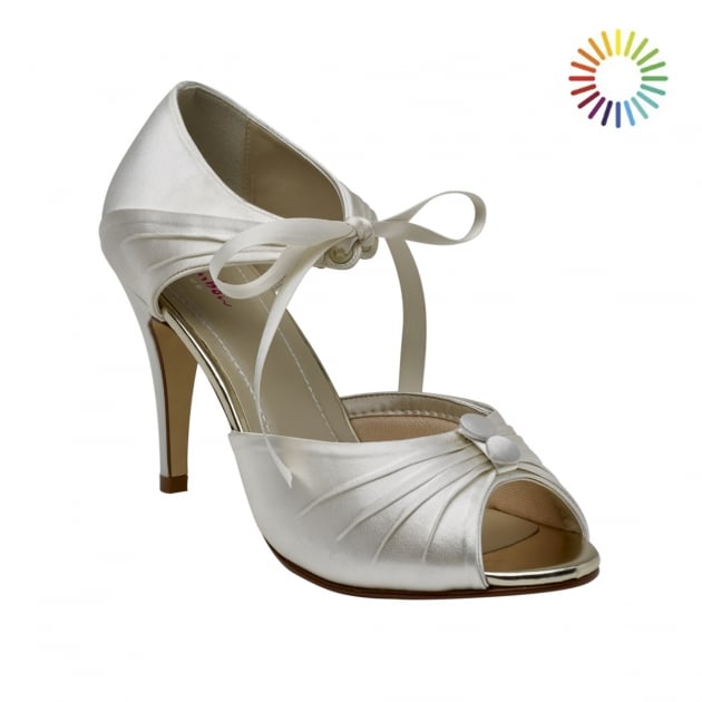 Rainbow Club Nancy Ivory Vintage Peep Toe Shoes