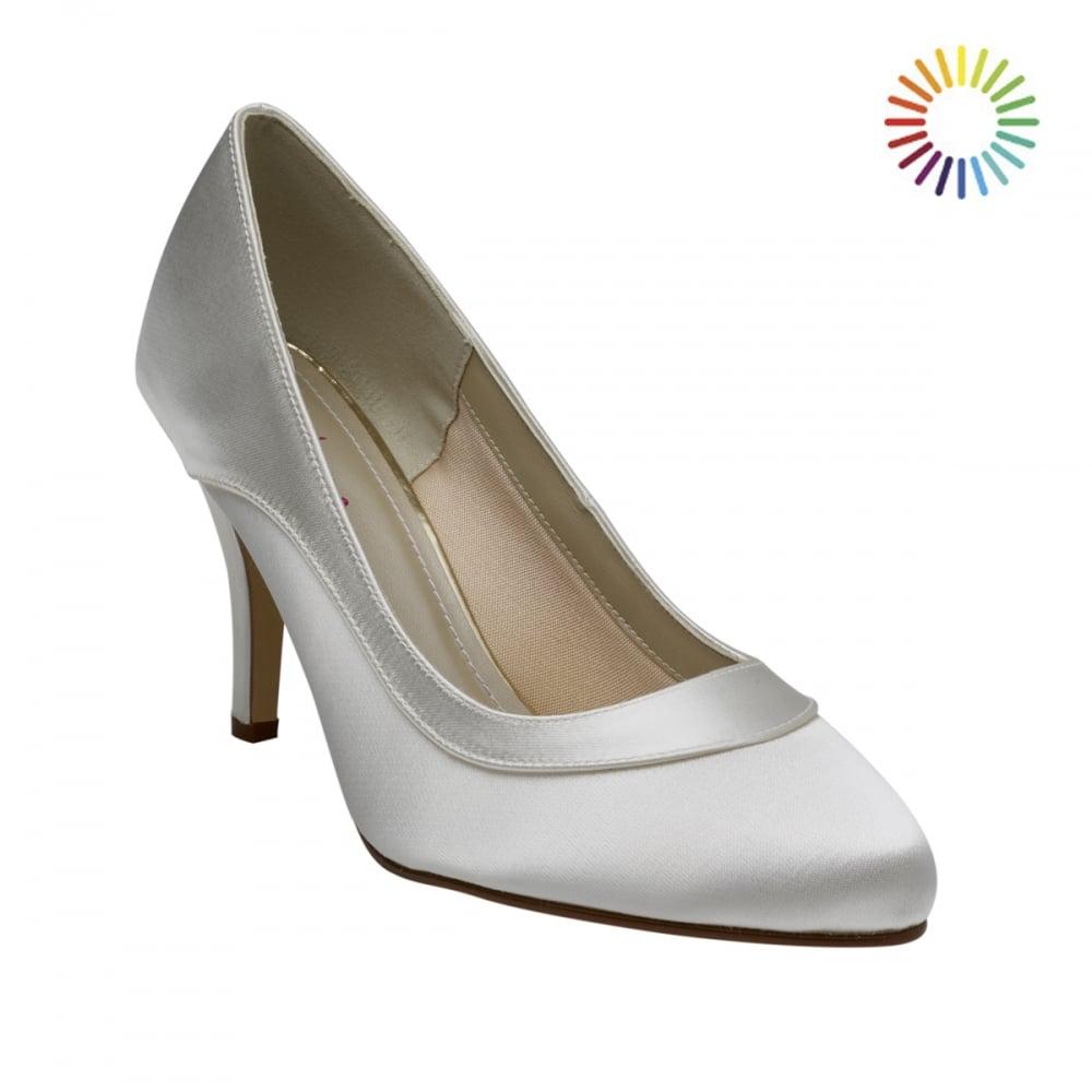 619e3633ee Rainbow Club Nicole Ivory Satin Elegant Court Shoes - Shoes.co.uk