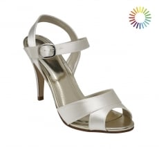 Rainbow Club Nigella Ivory Strappy Peep Toe Shoes