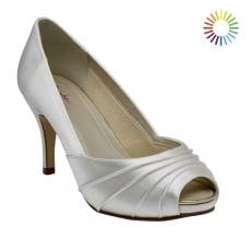Rainbow Club Sophie Ivory Satin Peep Toe Shoes