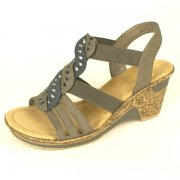 Rieker 60668 Grey Combination Sandals