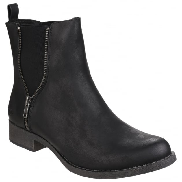 Camilla Gusset Black Boots