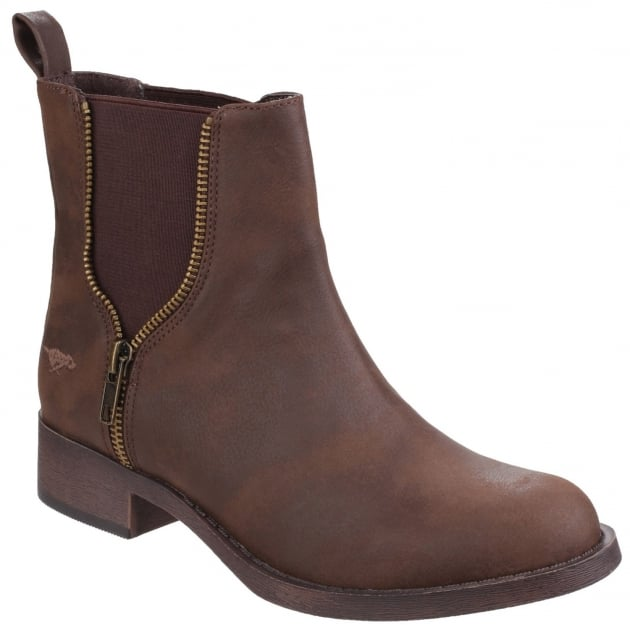 Rocket Dog Camilla Gusset Brown Boots