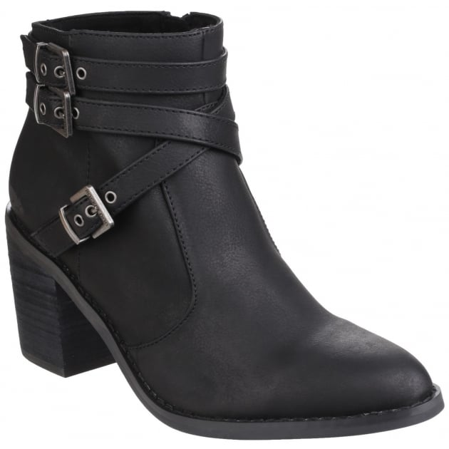 Rocket Dog Deon Zip Up Black Boots