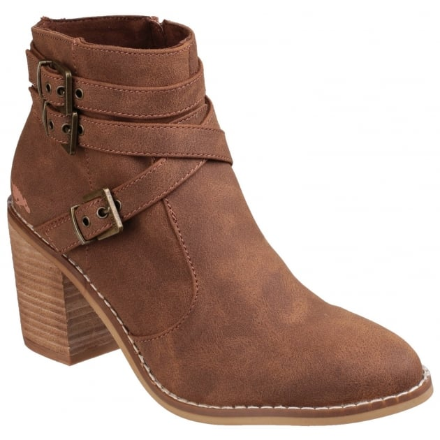 Rocket Dog Deon Zip Up Tan Boots