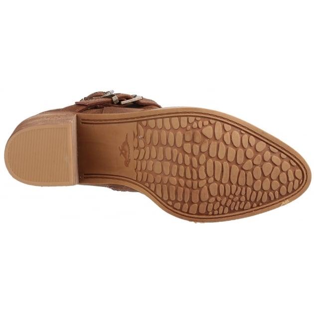 Deon Zip Up Tan Boots