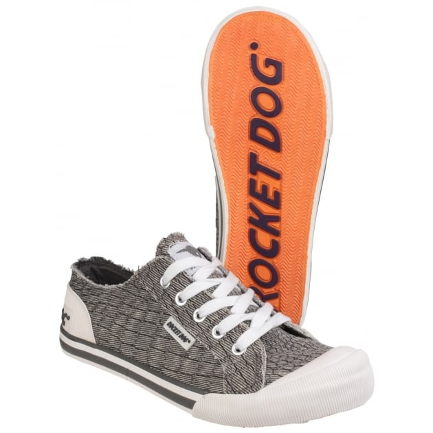 Rocket Dog Jazzin Lace Up Grey Sneakers