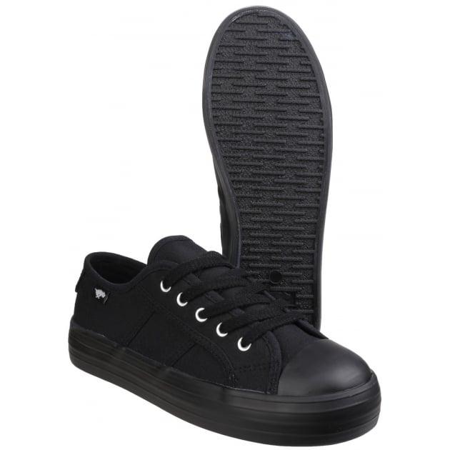 Magic Lace Up Black Shoes