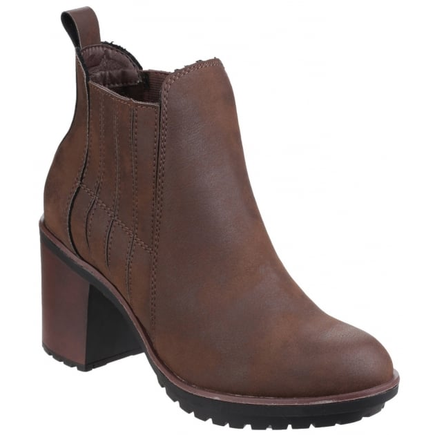 Rocket Dog Raegan Gusset Brown Boots