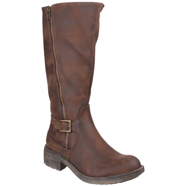 Rocket Dog Tanker Zip Up Brown Boots